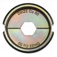 Матрица для обжимного инструмента MILWAUKEE DIN22 Cu 50 4932451747
