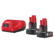 Комплект аккумулятор и зарядное устройство MILWAUKEE M12 NRG-602 4933451903
