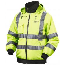 Куртка с электроподогревом MILWAUKEE M12 HJ HI-VIS-201 (XL) желтая со светоотражающими полосами 4933446004