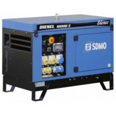 Портативный генератор SDMO DIESEL 10000 E SILENCE с АВР